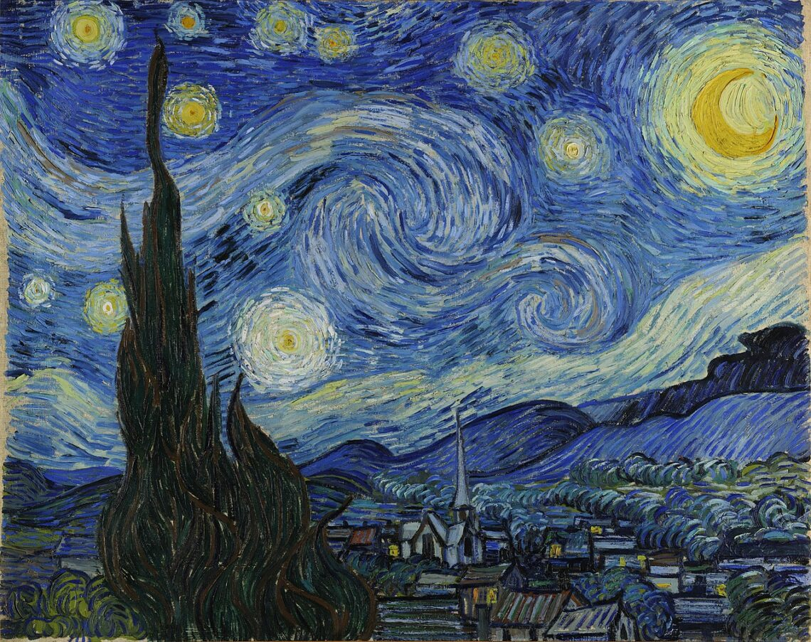 The original by Van Gogh, titled Starry Night