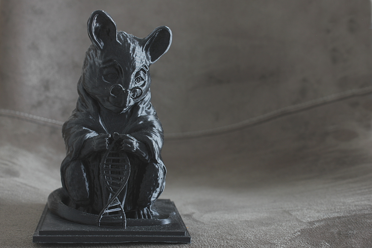 3D Printed copy of 'Monument to the laboratory mouse', a statue to commemorate mice that died for Genetics Research