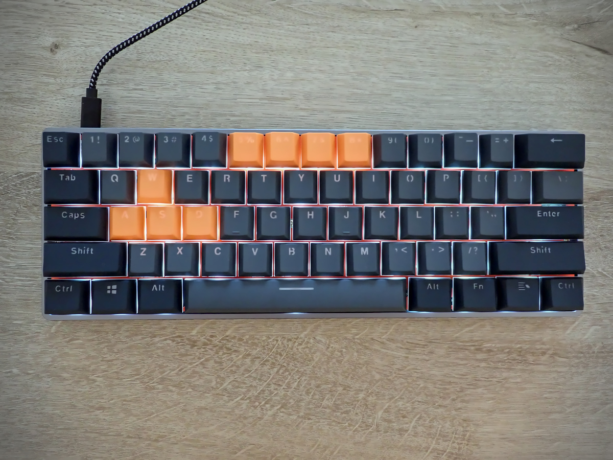 Mechanical keyboard fully assembled